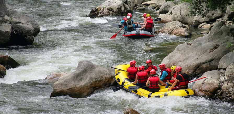 River Rafting Guide on River Photo