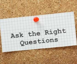 Ask The Right Questions Pinned To Board Image