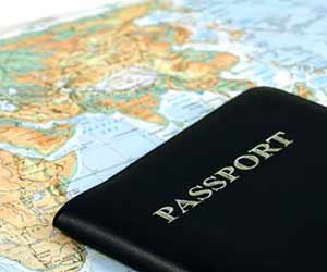 Passport on World Map