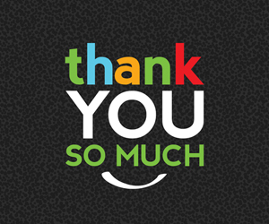 "the words ""thank you so much"" on a black background"