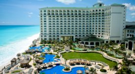 Caribbean Beach Resort and Pool Photo Button