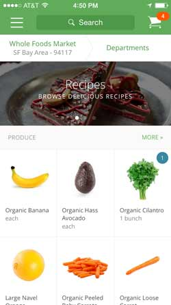 Instacart iPhone Screenshot