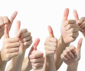 Eight Hands Giving Thumbs Up Picture